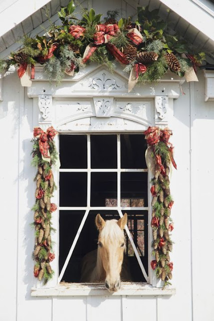 image result for beautiful stable with horse decorated for Christmas elegant sophisticated interior design