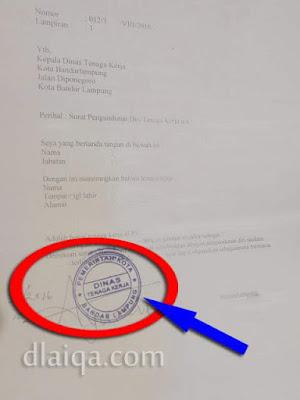 surat paklaring dengan legalisir Dinas Tenaga Kerja