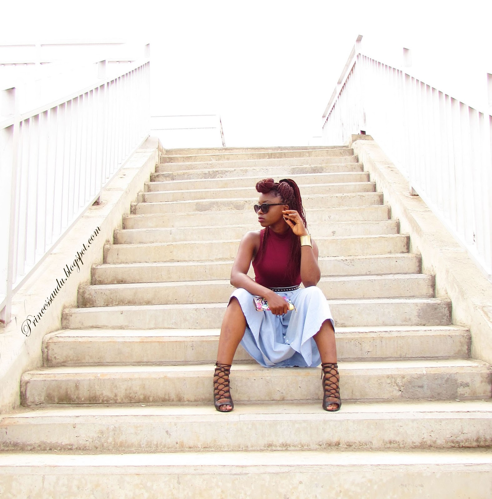 lace-up booties, burgundy, turtle neck top, midi-skirt