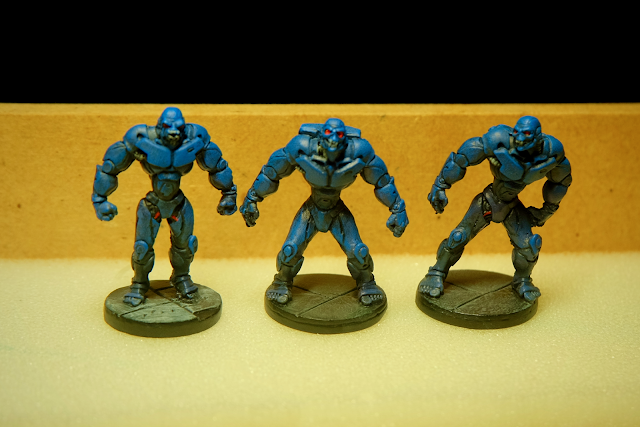 Three Bubblegum Crisis Boomer models painted