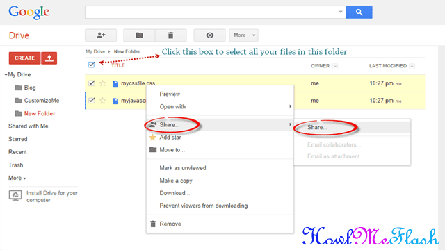 share google drive files