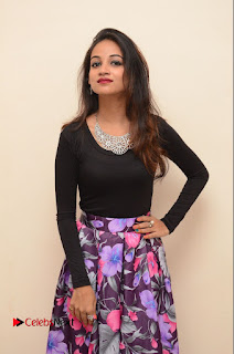 Actress Sana Pictures in Floral Skirt at Neerajanam Audio Launch  0050