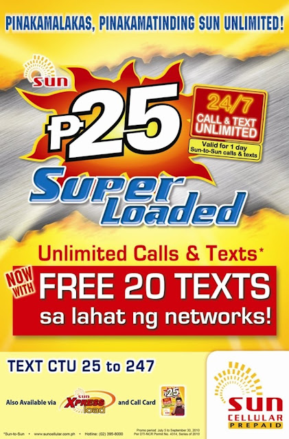 Sun 24/7 Call & Text Unlimited Promo Codes