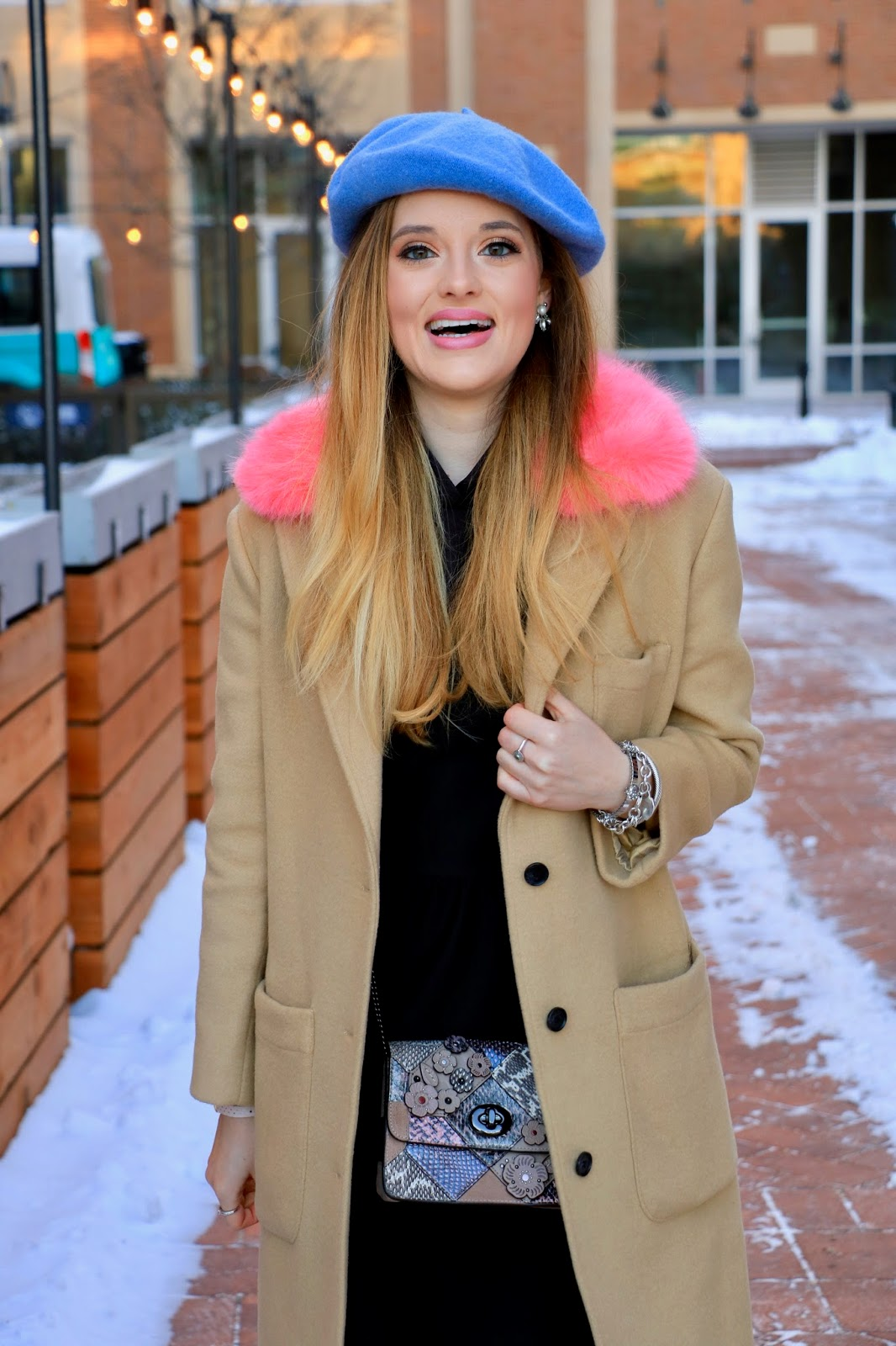 Nyc fashion blogger Kathleen Harper showing how to wear a beret