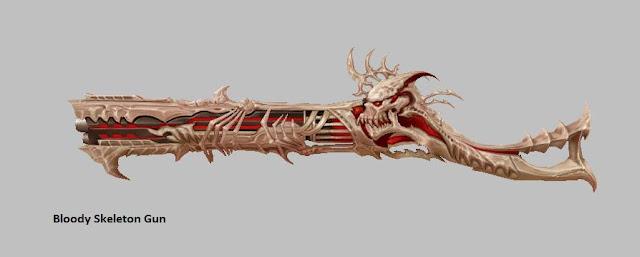Bloody Skeleton Gun | Weapon Skin [Force Gunner]