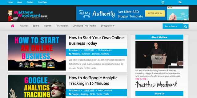 Authority Responsive Blogger Templates