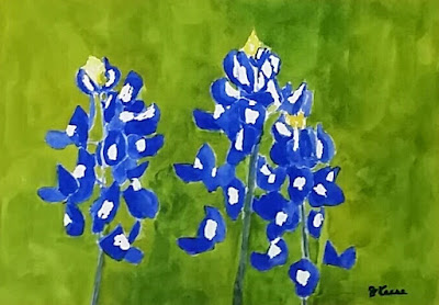 Watercolor - Bluebonnets - JKeese