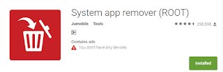 Uninstall android app