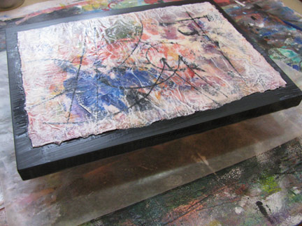 Mixed Media Artist: Mounting raw-edged paintings - a tutorial