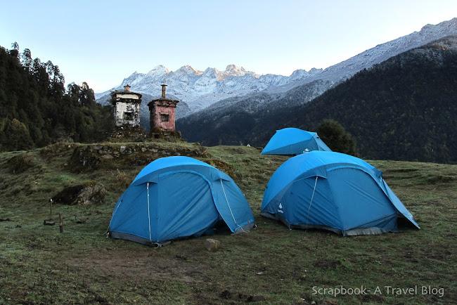 Goecha La Trek Tshoka Campsite Sikkim India
