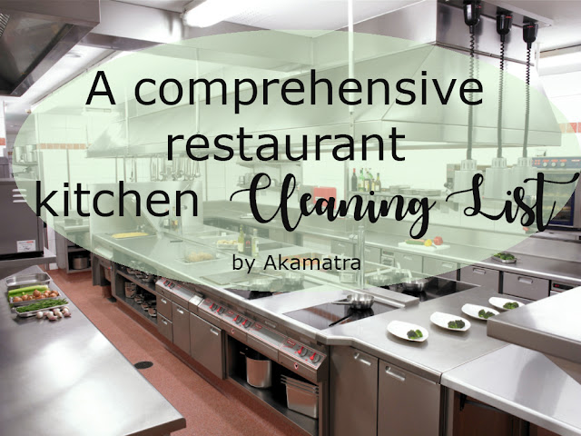 A Comprehensive Restaurant Kitchen Cleaning List