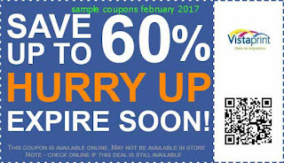Vistaprint coupons february 2017