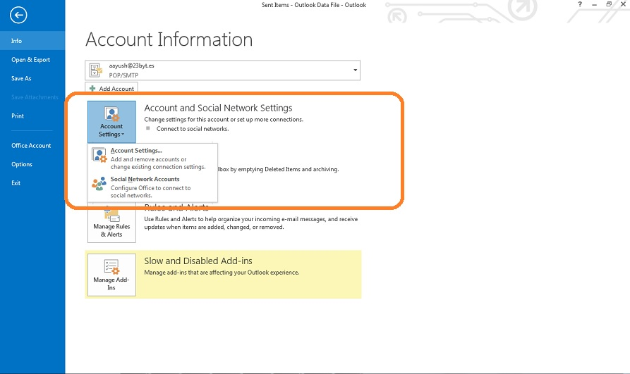how to change password on microsoft outlook 2007