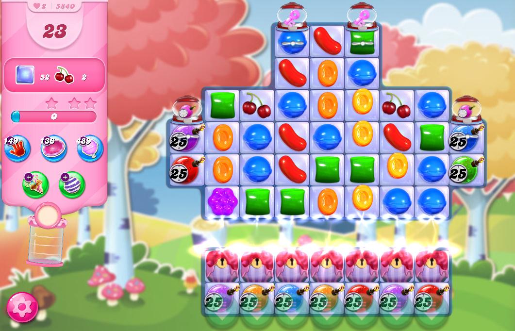 Candy Crush Saga level 5840