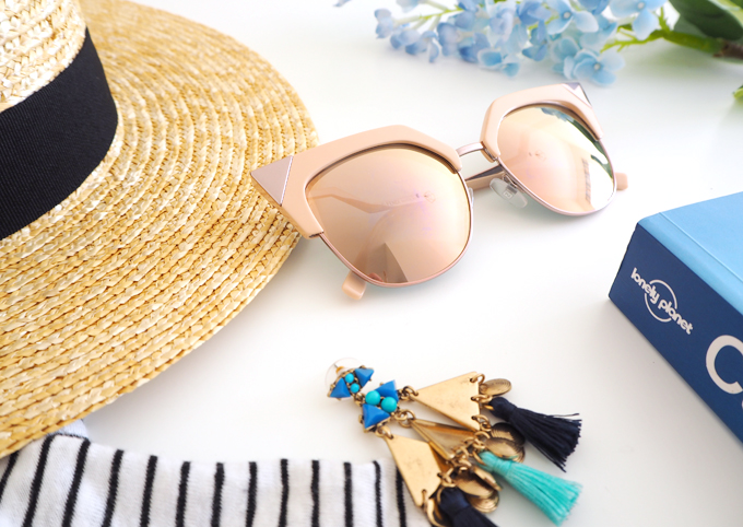 Travel My Holiday Essentials close up of the Fendi Iridia Sunglasses from SmartBuyGlasses