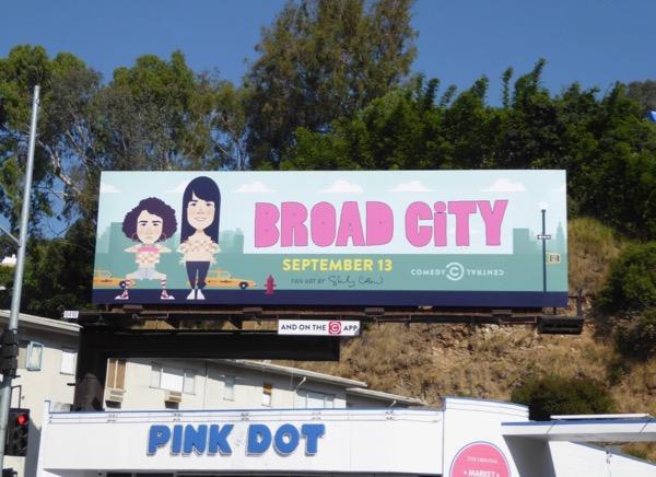 Broad City season 4 fan art billboard