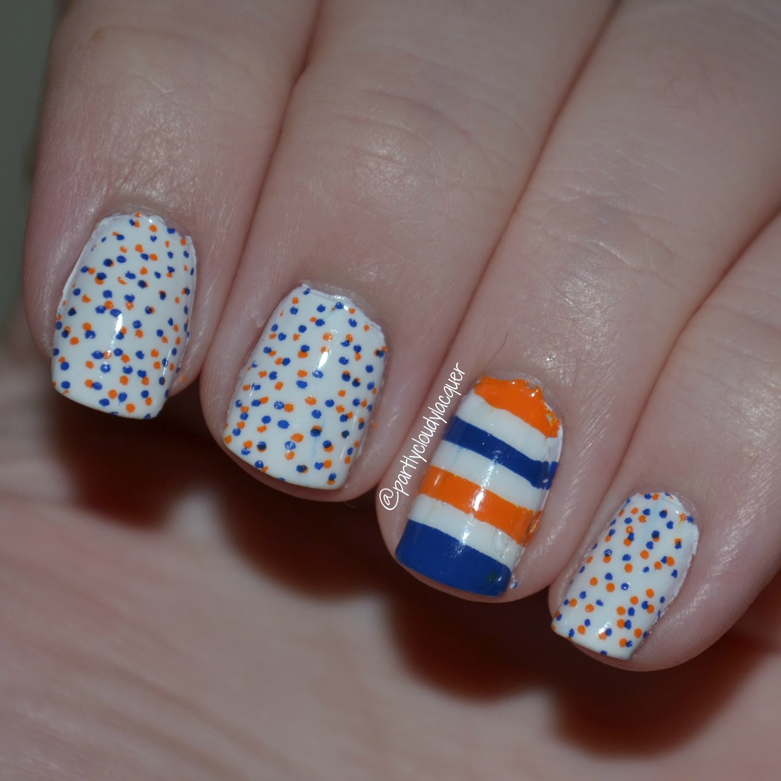 Florida Gator Nails - UF vs. Vandy | Partly Cloudy With a Chance of ...
