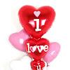 Balon Foil I LOVE YOU Hearts (01)