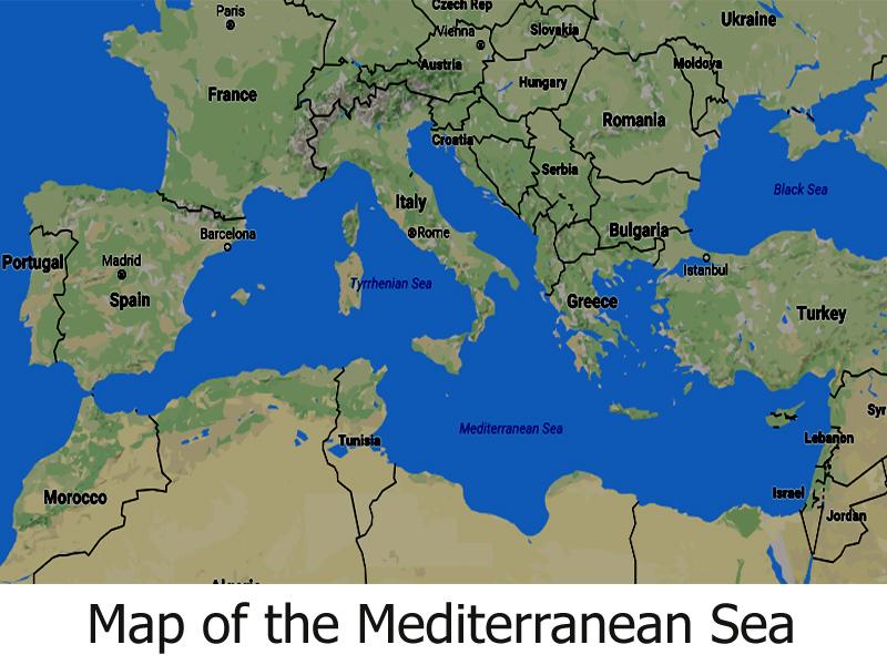 map oceans seas