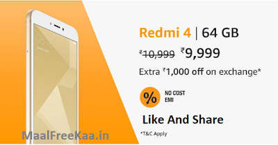 Redmi 4 Lowest Price
