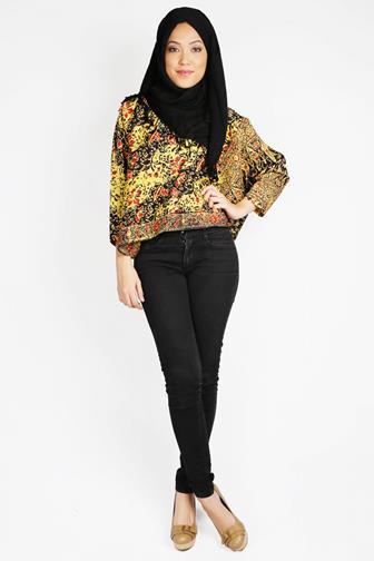Model Atasan Batik Kerja Wanita Muslim