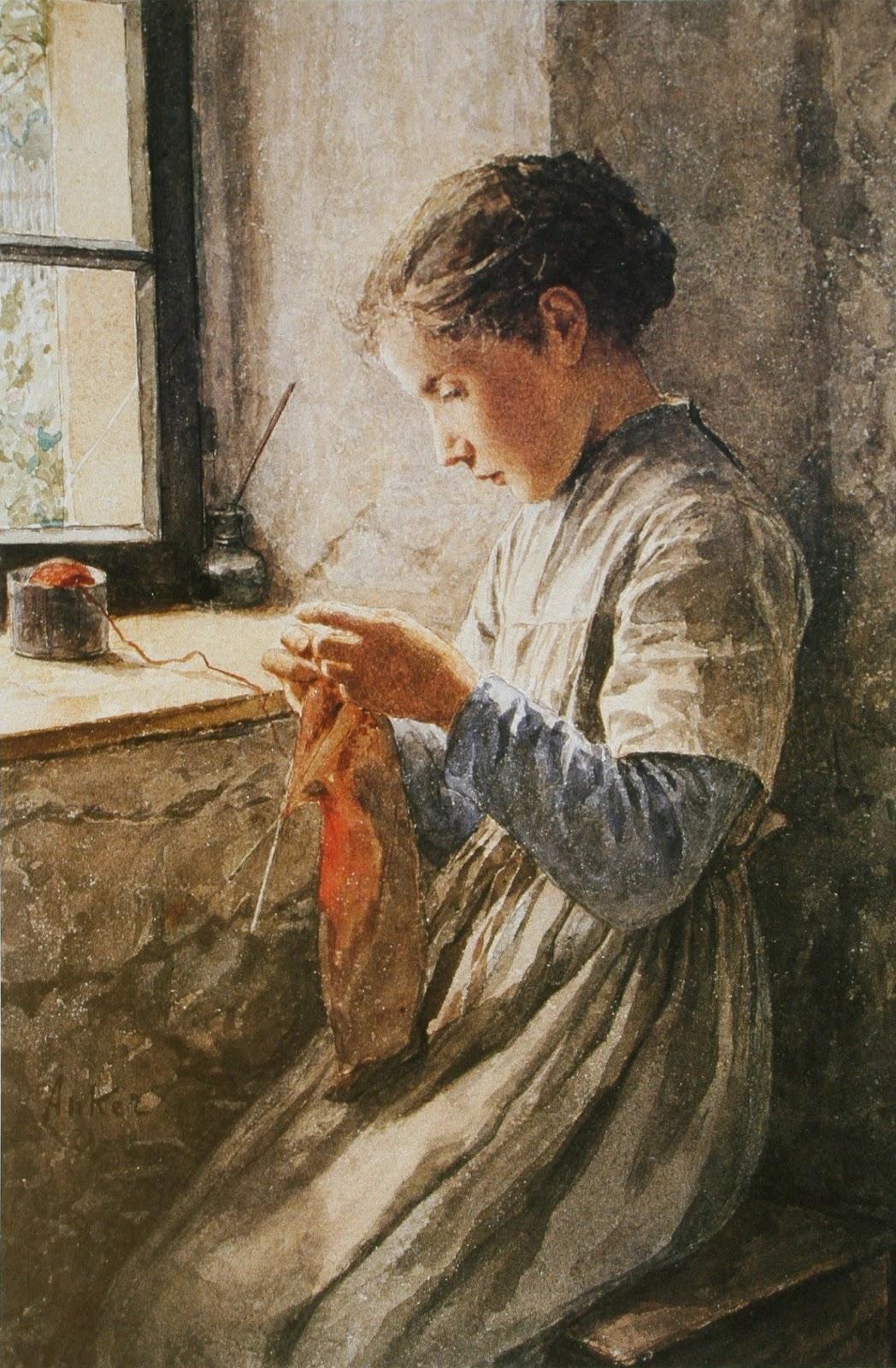 Knitting Oils : Art artists albert anker part