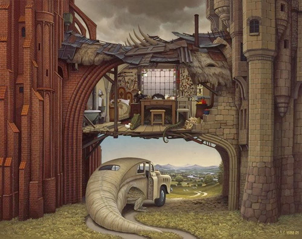 14-Jacek-Yerka-Surreal-Dream-Paintings-www-designstack-co