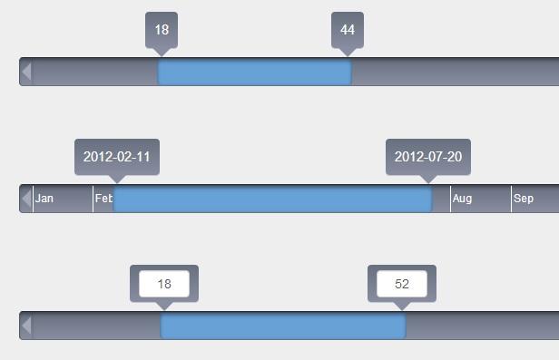 4 jQuery Price Range Slider Examples | jQuery Range Selector