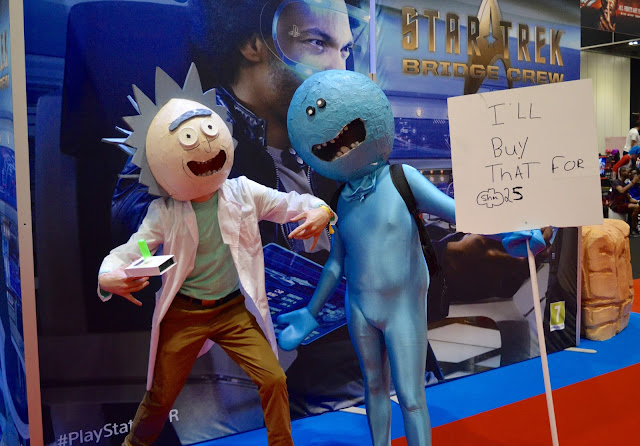 Rick and Mr Meeseeks Comic Con