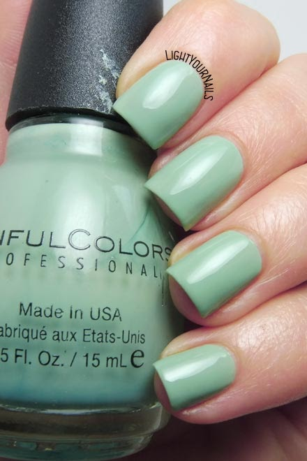 Smalto verde acqua Sinful Colors Open Seas dusty aqua green nail polish #nails #unghie #sinfulcolors #lightyournails