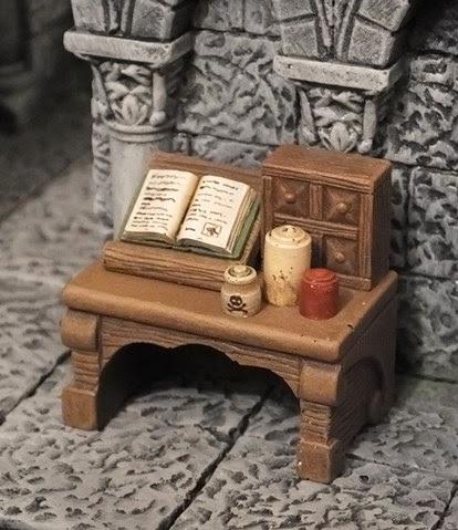 Mini Metal Mayhem Heroquest Dungeon Furniture