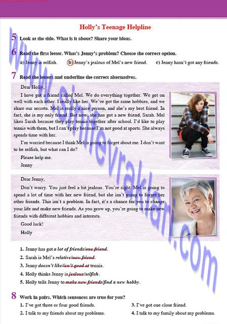 8. Sınıf İngilizce Tutku Yayınları Ders Kitabı Cevapları Sayfa 11