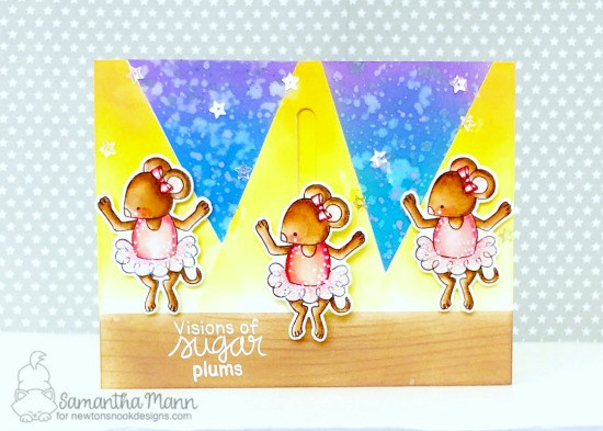 Ballerina Mouse card by Samantha Mann | The Nutcracker Squeak Stamp and Die Set by Newton's Nook Designs   #newtonsnook #handmade