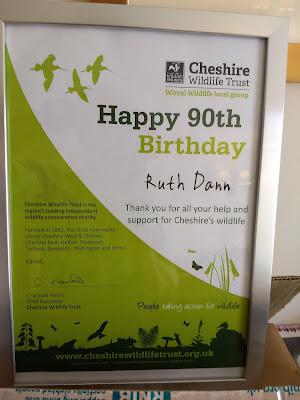 Cheshire Wildlife Trust certificate