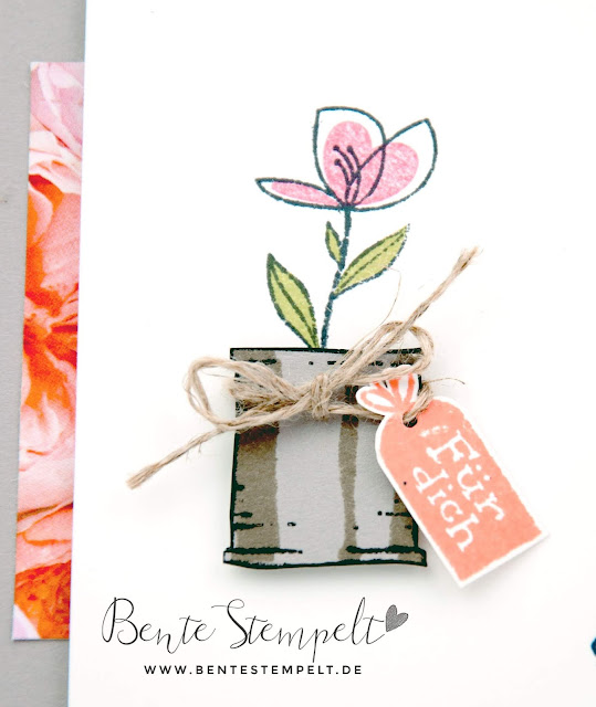 Stampin' Up! Bente Stempelt Würze des Lebens Dose Blume Designerpapier DSP Blütentraum Für dich Herzlichen Glückwunsch Titelaufstieg Teampost Elite Bronze Karte