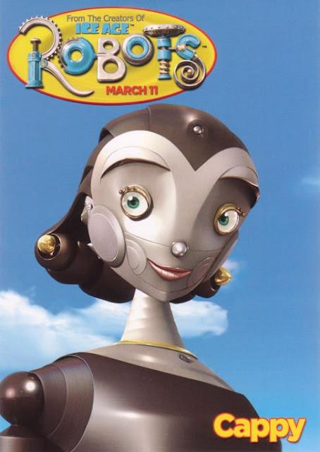 Imagen en 3D del cartel de la protagonista Cappy de la película Robots