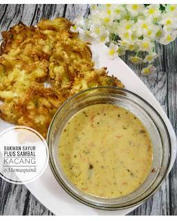 Resep Bakwan Sayur Dan Sambel Kacang By  @Mamaquink
