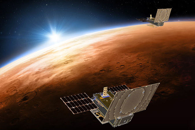Penelitian NASA Hears Mars Cube One (MarCO) CubeSats Loud and Clear from Mars