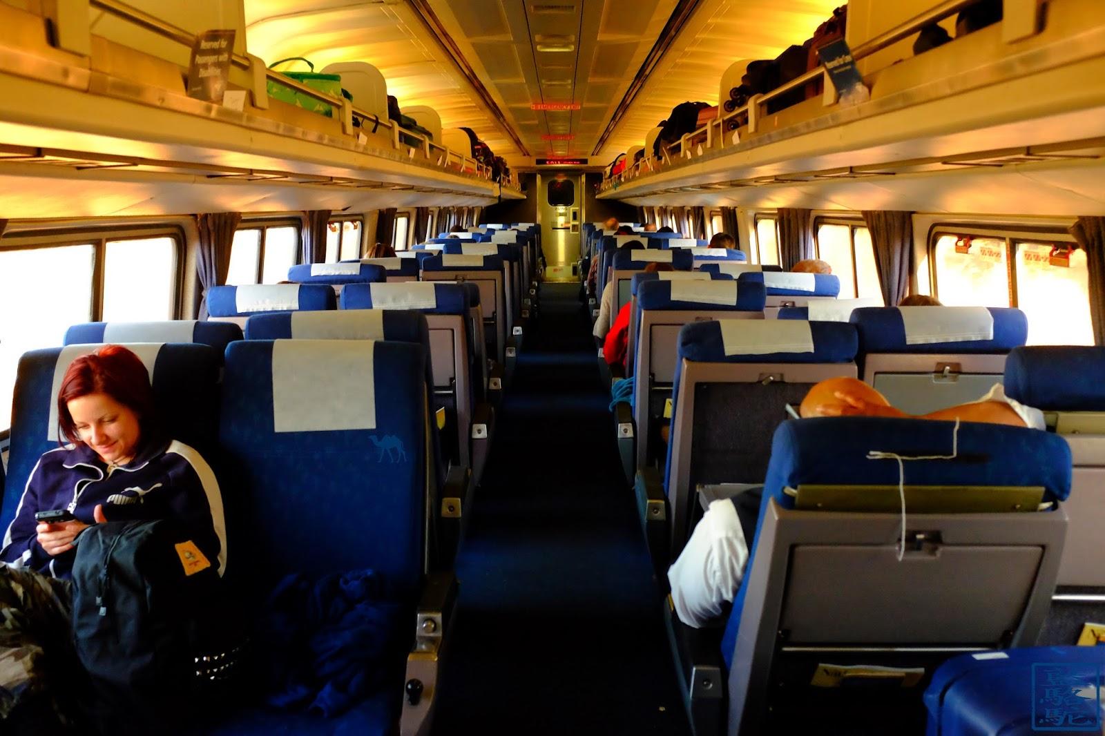 Le Chameau Bleu - Intérieur du train pour Chicago