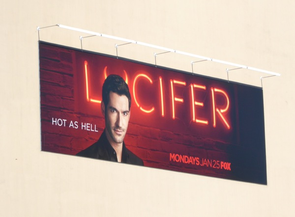 Tom Ellis Lucifer series billboard