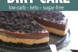 #TOPRECIPES Low Carb Chocolate Peanut Butter Dirt Cake