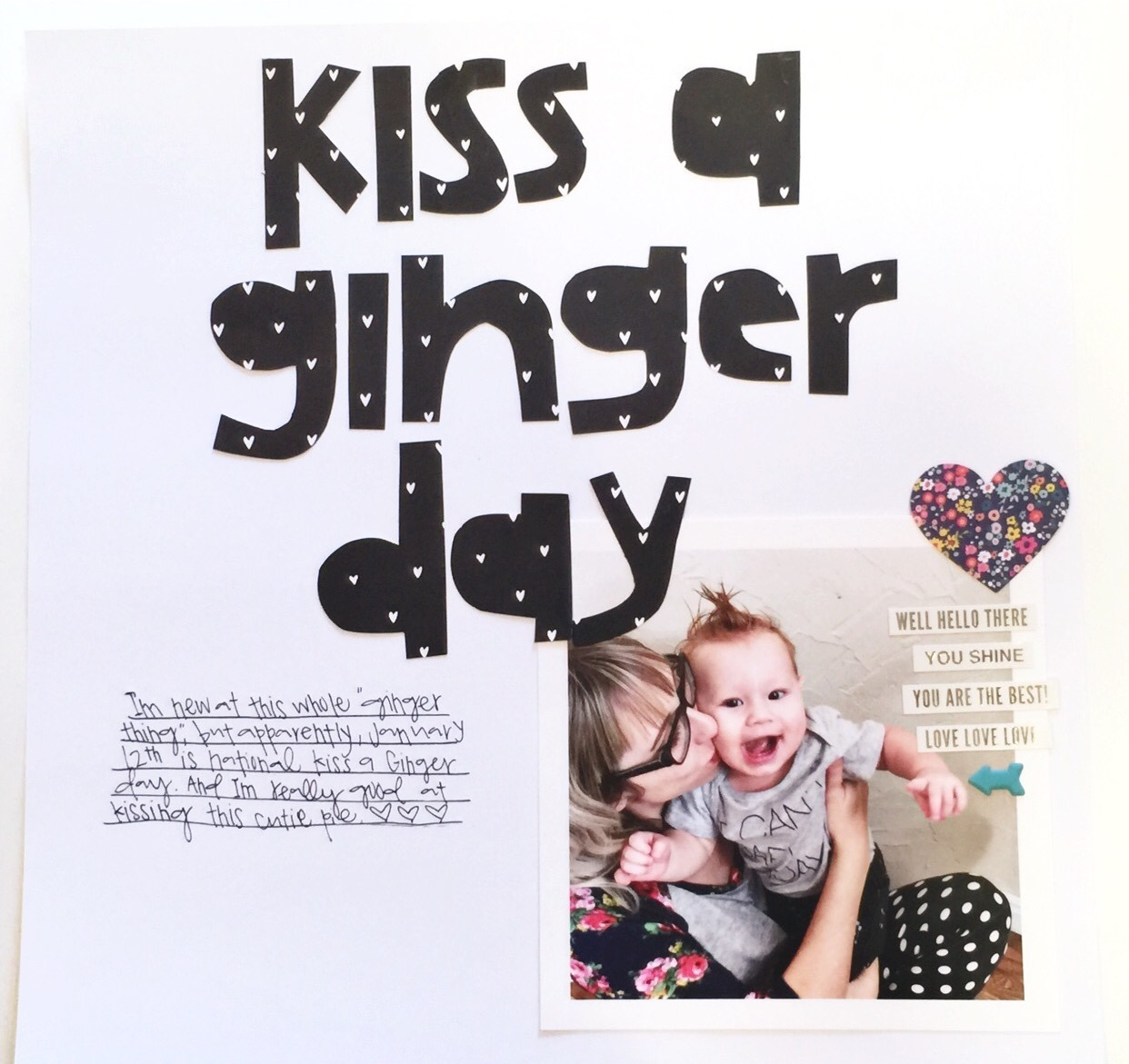 Forever and a day create : kiss a ginger day