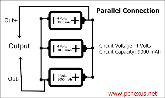 batteries connection series parallel