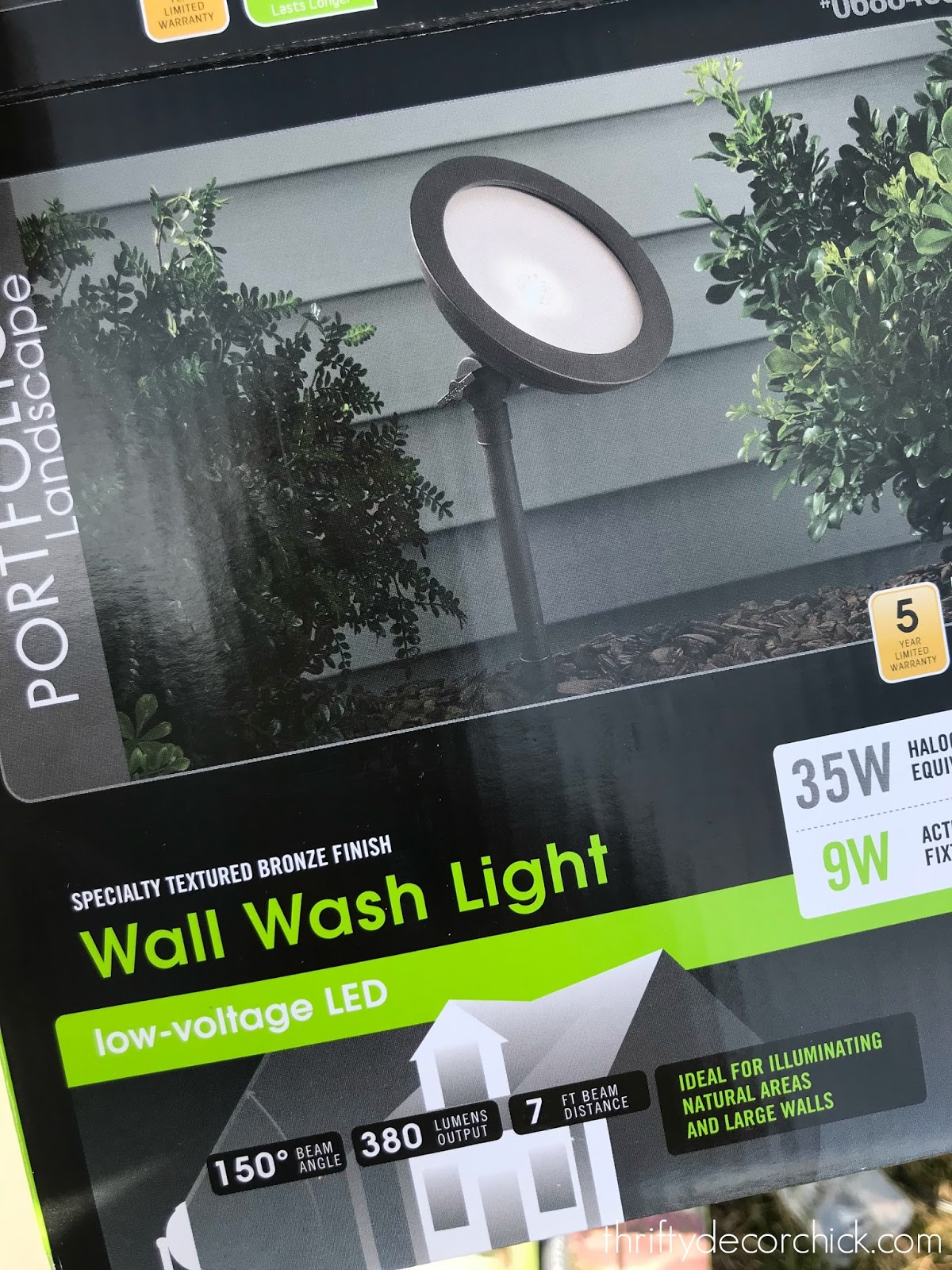 wall wash landscaping light