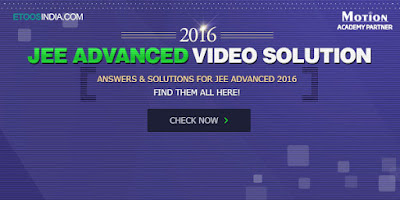 JEE Advanced 2016 Video Solution