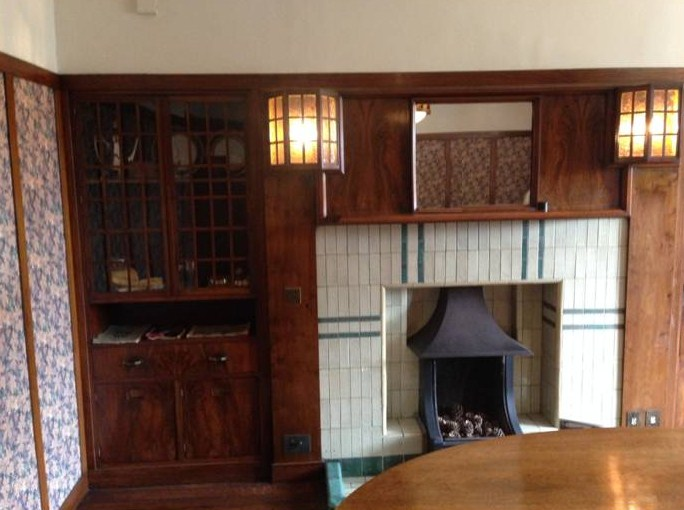 The Dining Room Has Less By Mackintosh Who Designed The Fireplace,  Cupboards And Lanterns (below). The Wall Paper Was The Bassett Lowkesu0027  Choice As Opposed ...