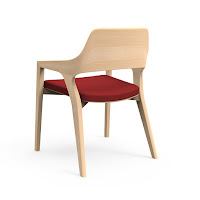 Contemporary Wood Guest Chair