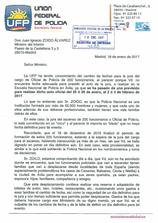 Ufp almer a el ministerio del interior convierte en un for Ministerio del interior pagina oficial