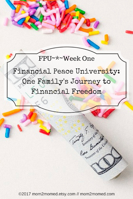 Mom2MomEd Blog: Financial Peace University~*~Week One...One Family's Journey to Financial Freedom