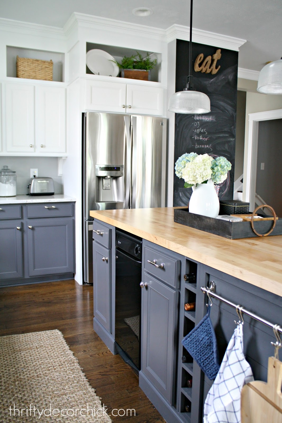 chalkboard in kitchen over the sink lighting surprising color every room needs from thrifty